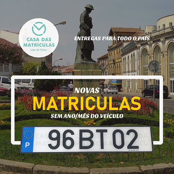 CHAPAS DE MATRÍCULA 2020 (SEM DATA)
